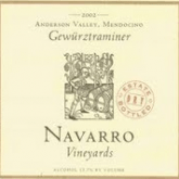 Navarro Estate Bottled Dry Anderson Valley Gewurztraminer 2013 California White Wine