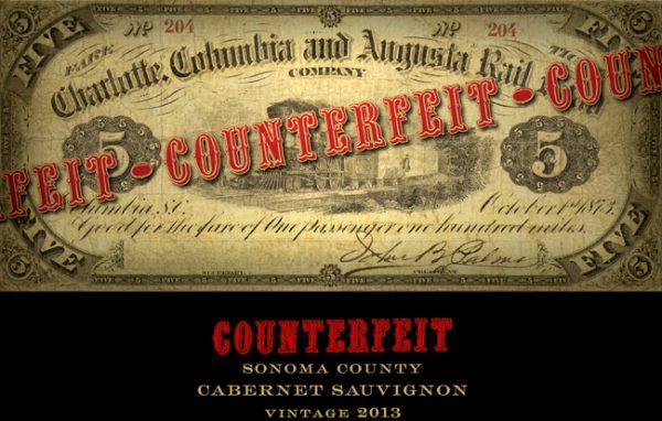 Counterfeit Cabernet Sauvignon Sonoma Valley 2014 Red California Wine 750mL