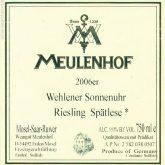 Meulenhof Wehlener Sonnenuhr Spatlese Riesling 2014 German White Wine