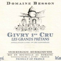 Domaine Xavier Besson Givry 1er Cru Rouge Les Grands Pretans 2015 French Red Wine 750 mL