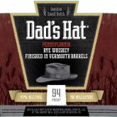 Dads Hat Rye Vermouth Barrel Finish 94 proof Pennsylvania Rye Whiskey 750 mL
