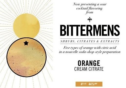 Bittermens Orange Cream Citrate 5 ounce bottle