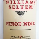 Williams Selyem Pinot Noir Centeral Coast 2014 Red California Wine