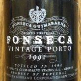 Fonseca Porto Vintage Port 1992 Portuguese dessert wine 750 mL