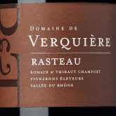 Domaine de Verquiere Cotes du Rhone Villages Rasteau 2012 French Red Wine 750 mL