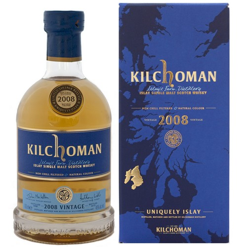 Kilchoman 2008 Vintage Seasonal Release 46% Abv Single Malt Scotch Islay Whisky 750 mL