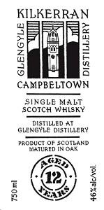 Glengyle Distillery Kilkerran 12 Year Old Single Malt Scotch Whisky 750mL