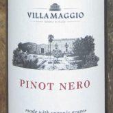 Maggiovini Villa Maggio Pinot Nero (Pinot Noir) Organic Grapes Italian Sicilian Red Wine 750 mL