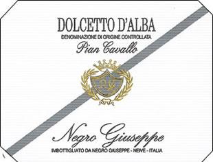 Negro Giuseppe Dolcetto D'Alba Italian Red Piedomont Wine 750mL