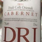 Giovanni DRI Cabernet Sauvignon Red Italian Friuli Wine 750 mL