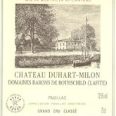 Chateau Duhart Milon Rothschild Pauilac 2005 French Red Bordeaux Wine 750mL