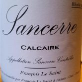 Francois Le Saint Sancerre Calcaire French Loire White Wine 750 mL