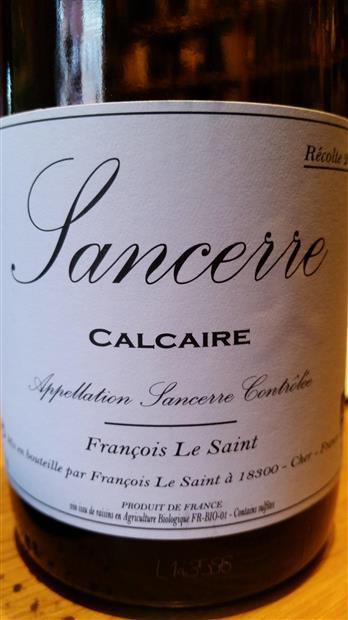 Francois Le Saint Sancerre Calcaire French Loire White Wine 750 mL