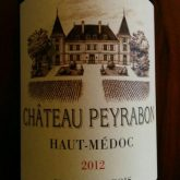 Chateau Peyrabon Haut Medoc Cru Bourgeois 2012 Red Bordeaux Wine 750 mL