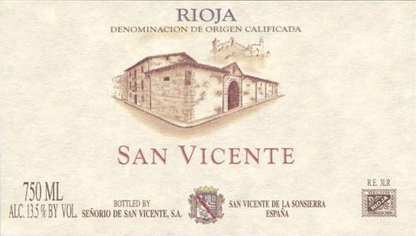 Senorio de San Vicente Rioja 2012 Red Spanish Wine 750 mL