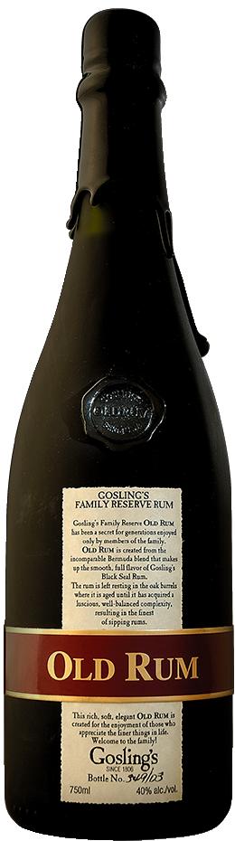 Goslings Family Reserve Old Rum 80 Proof Bermuda Rum 750 mL