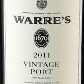 Warre's Vintage Porto 2011 Red Portugese Dessert Wine 750 mL