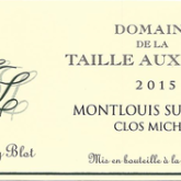 Domaine de la Taille Aux Loups Jacky Blot Montlouis-sur-Loire Sec Clos Michet French White Wine 750 mL