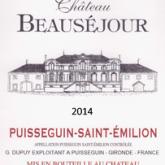 Chateau Beausejour Puisseguin Saint-Emilion Cuvee 2014