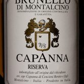 Capanna Brunello di Montalcino Riserva 2010 Italian Tuscan Red Wine 750 mL