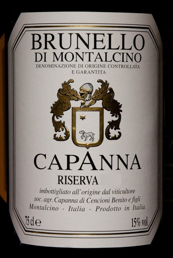 Capanna Brunello di Montalcino Riserva 2010 Italian Tuscan Red Wine 750 mL