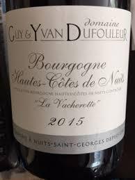 Domaine Dufouleur La Vacherotte Hautes Cotes de Nuits French Red Burgundy Wine 750mL
