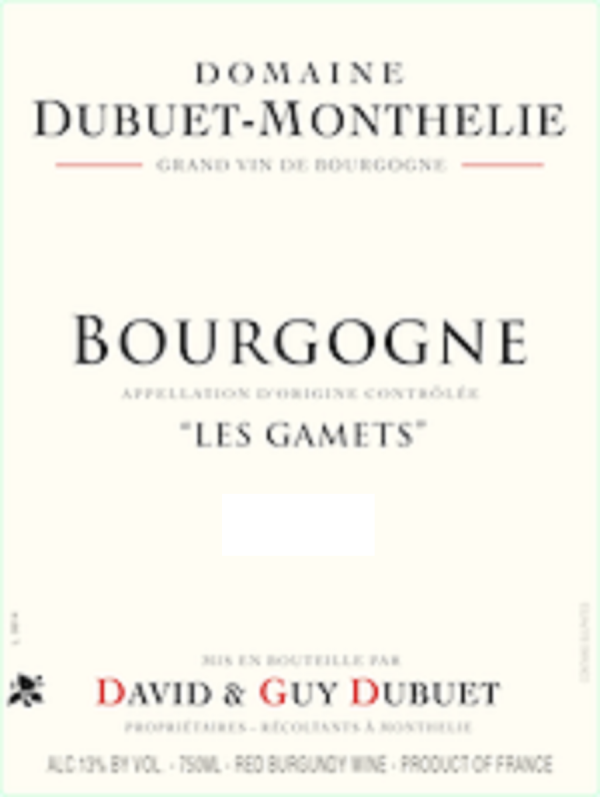 Domaine Dubuet-Monthelie Bourgogne Les Gamets 2015 French Red Wine 750mL