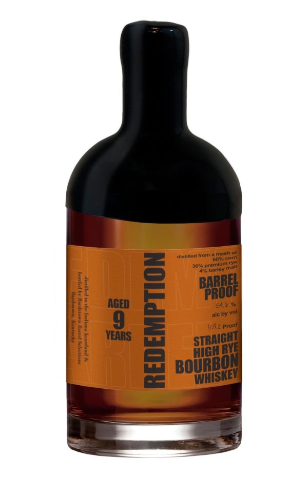 Redemption Bourbon High-Rye Barrel Proof 54.6% ABV Whiskey