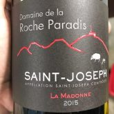 Domaine Paradis de la Roche Saint Joseph La Madonne 2015 French Red Wine 750mL