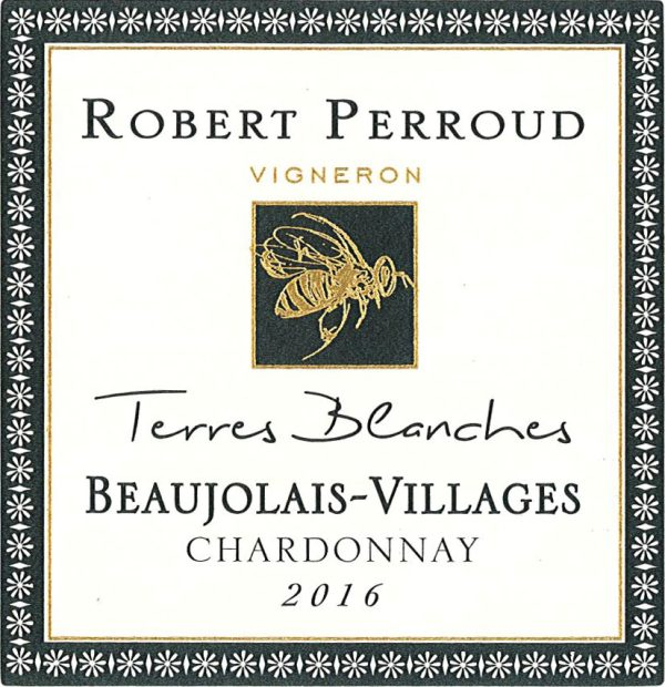 Robert Perroud Terres Blanc Beaujolais-Villages Chardonnay French White  Wine 750 mL