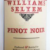 William Selyem Pinot Noir Vista Verde Vineyard 2015