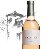 Chateau Pigoudet, Coteaux d'Aix-en-Provence Rose Premiere French Rose Wine 750mL