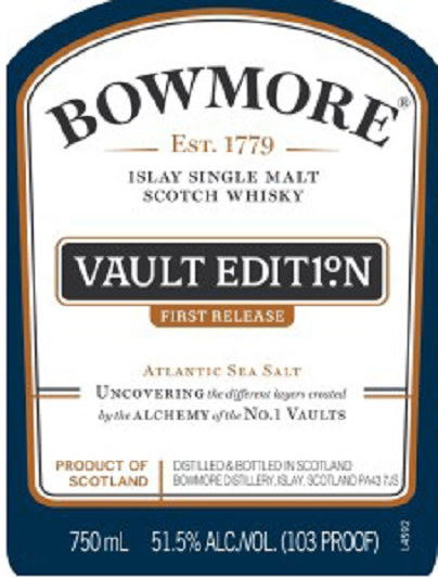 Bowmore Vault Edition First Release 103 Proof Single Malt Islay Scotch Whisky 750 mL
