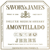Savory & James Amontillado Sherry Spanish Jerez Fortified Wine 750 mL