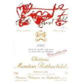 Chateau Mouton-Rothschild Pauillac 1995 Red Bordeaux Wine 750 mL
