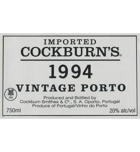 Cockburn Vintage Port 1994