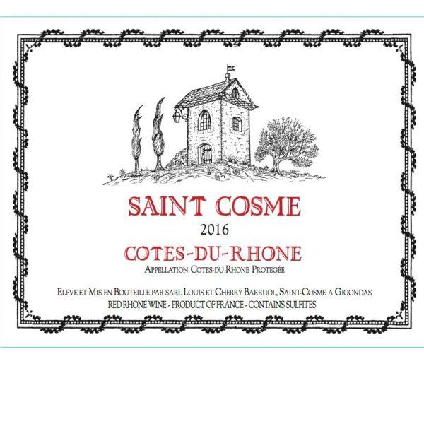 Chateau de Saint Cosme Cotes du Rhone Red Rhone Wine 750 mL