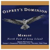 Osprey's Dominion Merlot Red Long Island Wine 750 mL