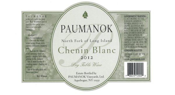 Paumanok Chenin Blanc White Long Island White Wine 750mL