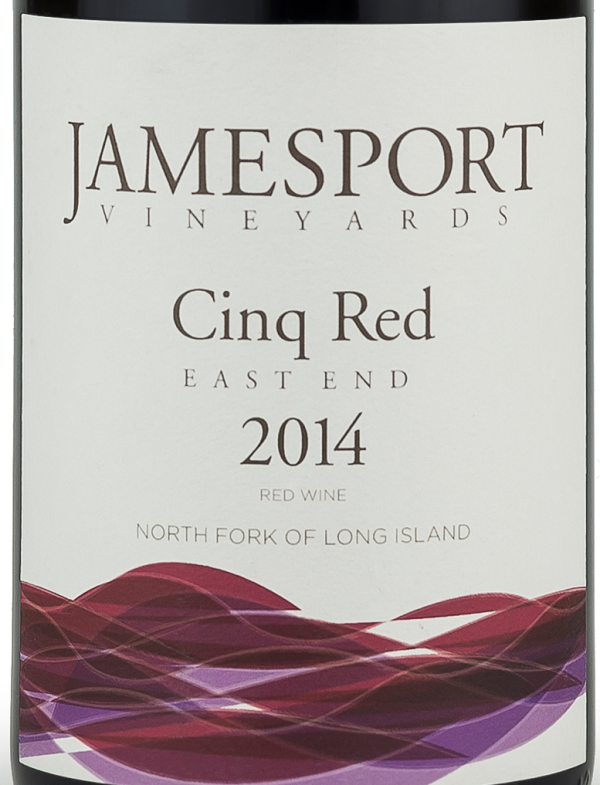 Jamesport Vineyards East End Cinq Red Long Island Red Wine