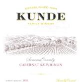 Kunde Cabernet Sauvignon Sonoma Valley 2013 California Red Wine 750mL