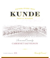 Kunde Cabernet Sauvignon Sonoma Valley 2013 California Red Wine 750mL