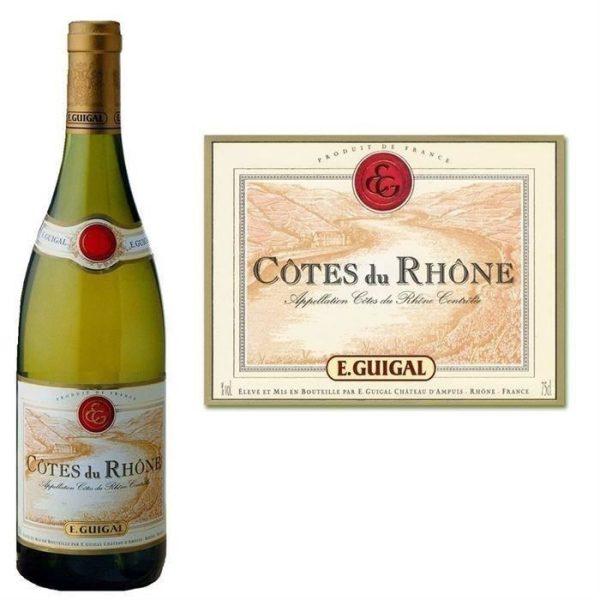 E. Guigal Cotes du Rhone Blanc 2015 White French Rhone Wine 750 mL