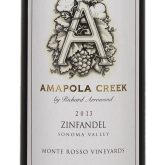 Amapola Creek Zinfandel Monte Rosso Vineyard  California Red Wine 2013 750 mL