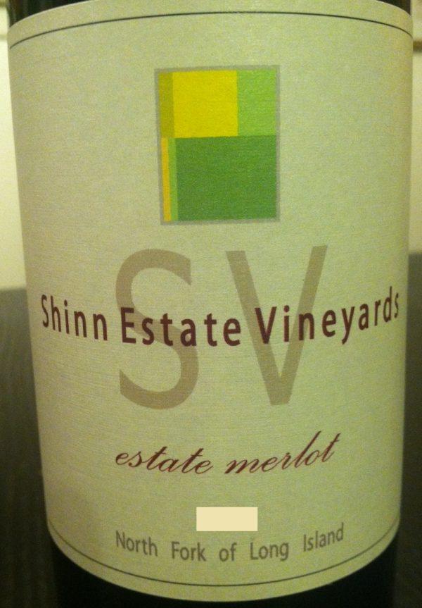 Shinn Estate Vineyards Merlot 2010 Long Island Red Wine 750 mL