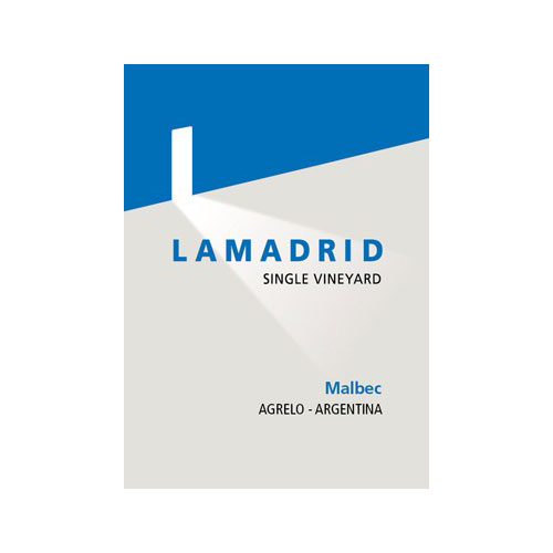 Lamadrid Malbec  SIngle Vineyard Agrelo Mendoza  Argentina Red Wine 750 mL