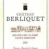 Chateau Berliquet Grand Cru Saint-Emilion Bordeaux 2006 French Red Wine