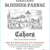 Chateau St. Didier-Parnac Cahors Red French Wine 750 mL