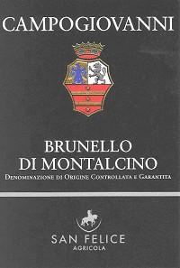 San Felice Campogiovanni Brunello di Montalcino 2012 Italian Red Wine