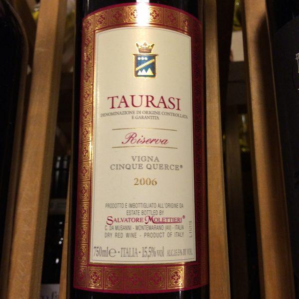 Salvatore Molettieri Taurasi Vigna Cinque Querce 2006 Italian Red Wine